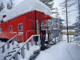 Caboose Lodging at Izaak Walton Lodge  Essex  Montana  USA