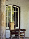 Rocking Chair at Lake McDonald Lodge in Glacier National Park  Montana  USA