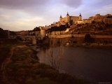 At Sunset a River Runs Past the Ancient City of Toledo  Spain  Toledo  Spain