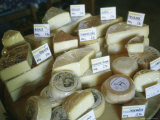 Cheeses Offered for Sale at a Cheese Factory