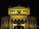 The Wonderful Opera House Rebuilt in Splendor in the Downtown Area  Frankfurt  Germany