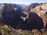 A View Down Zion Valley on a Winter Day  Zion National Park  Utah