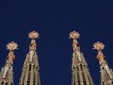 The Church of La Sagrada Familia in Barcelona Under Construction  Barcelona  Spain