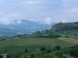 The Medieval Hill Town of Orvieto Rises Above a Valley