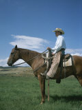 A Cowboy Sits on His Horse in Colorado