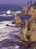 Ragged Coastline near Coos Bay  Oregon  USA