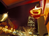 Holiday Season in Downtown Seattle  Washington  USA