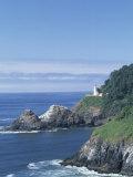Heceta Head Lighthouse and Seastacks  Cape Sebestian  Oregon  USA