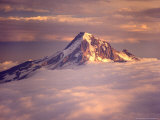Aerial of Mt Hood  Oregon  USA