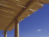 Southwestern Latillas on Vigas  Porch of Visitor Center  Petroglyph National Monument  New Mexico