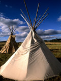 Sioux Teepee at Sunset  Prairie near Mount Rushmore  South Dakota  USA