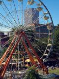 Ferris Wheel in the Family Fun Center at Waterfront Park  Portland  Oregon  USA