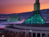 Oregon Convention Center at Sunset  Portland  Oregon  USA