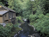 Grist Mill on Lewis River  Washington  USA