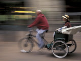Pedicab in Pioneer Square  Seattle  Washington  USA