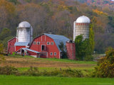 Farm Landscape in Fall Color  Arlington  Vermont  USA