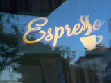 Espresso Sign in Cafe Window  Portland  Oregon  USA