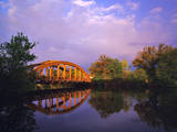 Rainbow Bridge Over Sheyenne River  Valley City  North Dakota  USA
