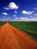 Red Road of Scoria near Fryburg  North Dakota  USA