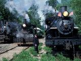Antique Steam Locomotives  Elbe  Washington  USA