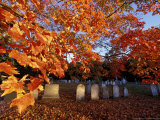 Fall Morning in a Portsmouth Cemetary  New Hampshire  USA