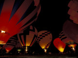 The Nite Glow at the Annual Walla Walla Hot Air Balloon Stampede  Washington  USA