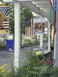 Flag Shop on Whidbey Island  Washington  USA
