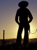 Cowboy Silhouette  Ponderosa Ranch  Seneca  Oregon  USA