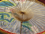 Painted Umbrellas at the Loa Fire Rocket Festival  Seattle  Washington  USA