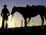 Cowboy on Horseback  Ponderosa Ranch  Seneca  Oregon  USA