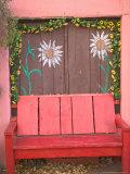 Decorative Chair  Mexican Folkart  Old Town Albuquerque  New Mexico  USA