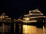 Christmas Ships Boarding for Night Cruise  Lake Washington  Washington