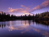 Mt Hood Reflected in Mirror Lake  Oregon Cascades  USA
