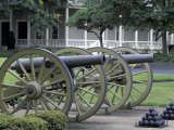 Cannon on Display  Fort Vancouver Natoinal Historic Site  Washington  USA