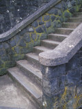 Step and Stone Wall Detail at the Vista House  Oregon USA
