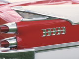 Tail Lights and Fin on Sleek Antique Car