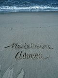 A Name Written in the Sand at Beach