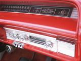 Vintage Red Dashboard of Car