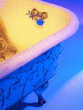 Chipped and Cracked Antique Clawfoot Bathtub