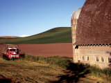 Barn and Truck in Palouse Area  Washington  USA