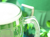 Refreshing Mug of Beer with St Patrick's Day Decorations