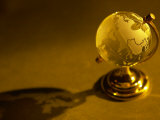 Antique Gold Travel Globe and Shadow