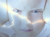 Composite of Young Boy and Lightning