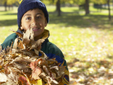 Little Boy with Leaves
