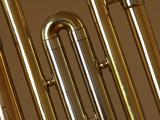 Close-up of a Brass Musical Instrument