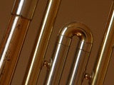 Close-up of Brass Musical Instruments