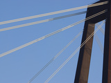 A Tall Suspension Bridge Support with Cables