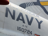Close-up of an American Navy Jet with Lettering and Numbers