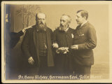 Felix Josef Mottl Austrian Composer and Conductor with Colleagues Richter and Levi