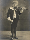 Florizel Von Reuter Austrian Musician as a Young Boy Playing the Violin